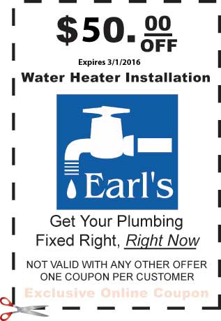 $50 Off water heater replacement coupon